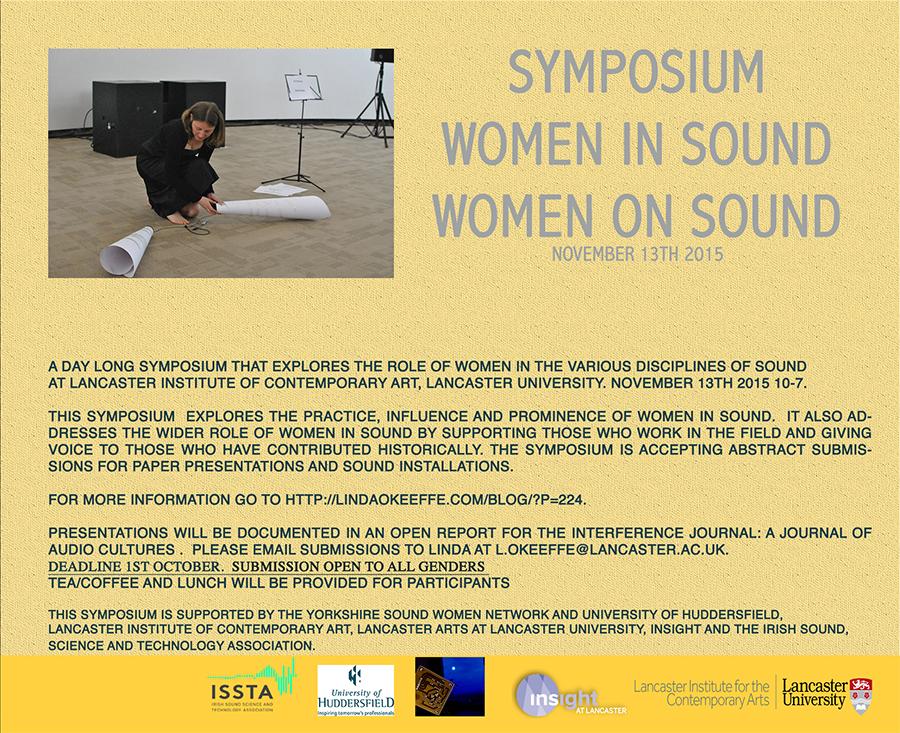 Women in Sound/Women on Sound symposium 2015